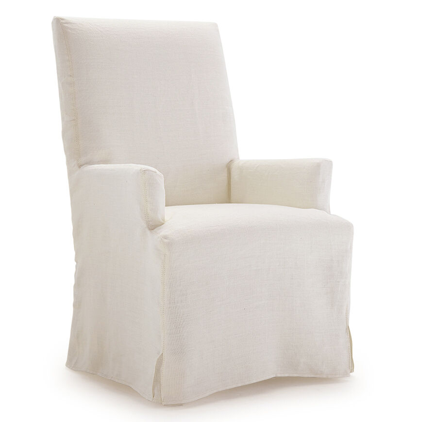 JULIA TALL ARM DINING CHAIR   SLIPCOVER, , Hi Res