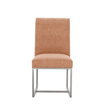GAGE LOW DINING CHAIR - BRUSHED STAINLESS STEEL, COSTA - PERSIMMON, hi-res
