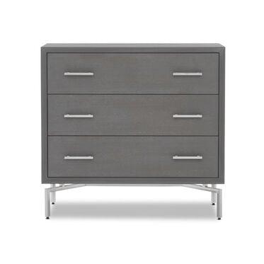 MING 3 DRAWER CHEST - GRAY / PEWTER, , hi-res