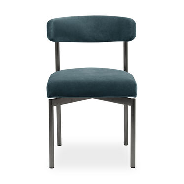 REMY DINING CHAIR - PEWTER, BOULEVARD - AGEAN, hi-res