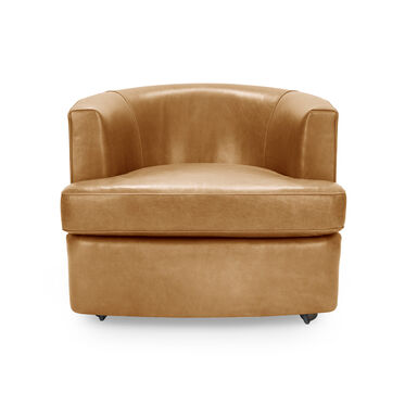 RYDER LEATHER CHAIR, MONT BLANC - FAWN, hi-res