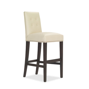 OLIVER LEATHER BAR STOOL, CORDELL - DOVE, hi-res
