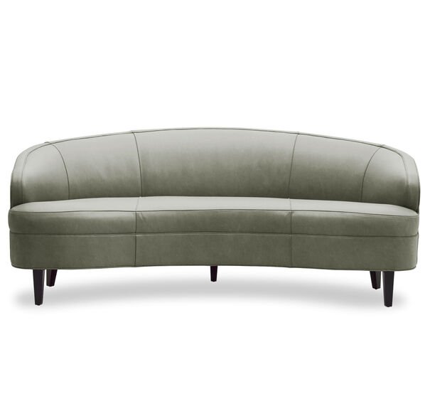 VERA LEATHER SOFA, MONT BLANC - FERN, hi-res