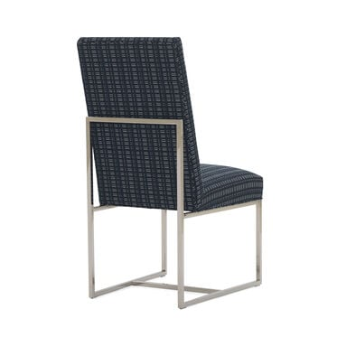 GAGE TALL SIDE  DINING CHAIR, DOT DASH - NAVY, hi-res
