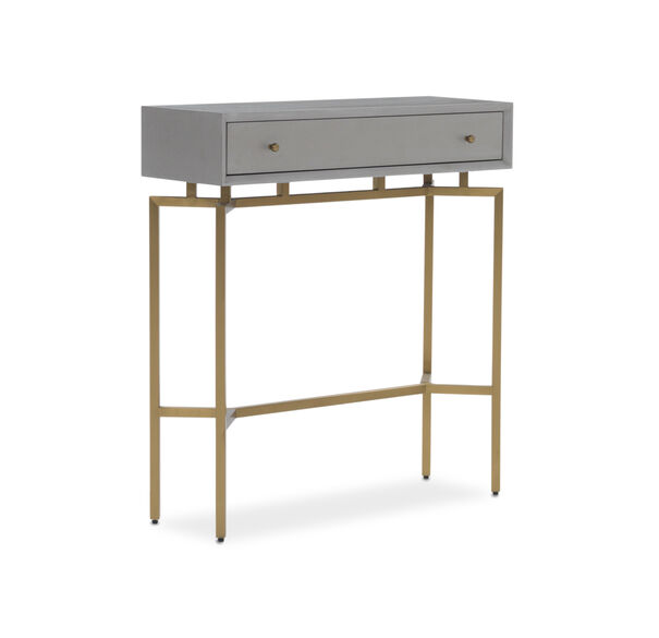 MING CONSOLE - GRAY / BRASS, , hi-res