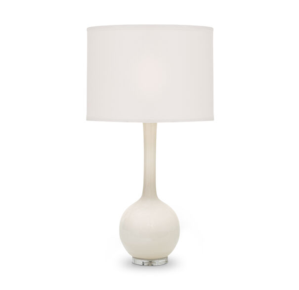 ROSEY CREAMY GLASS TABLE LAMP, , hi-res