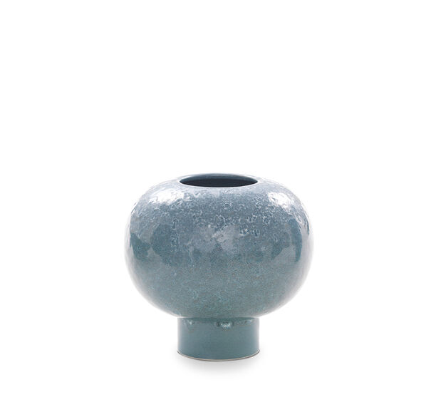 REACTIVE GLAZE WIDE VASE, , hi-res