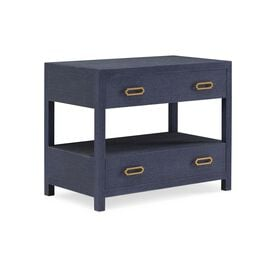 ARIEL 2 DRAWER BEDSIDE TABLE, , hi-res