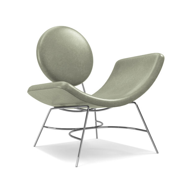 ELROY LEATHER RIGHT ARM CHAIR, MONT BLANC - FERN, hi-res