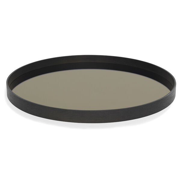 BRONZE ROUND TRAY, , hi-res
