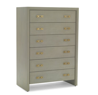 MALIBU 6 DRAWER CHEST - GRAY, , hi-res
