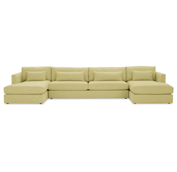 HAYWOOD U-CHAISE SECTIONAL, SOL - CHARTREUSE, hi-res