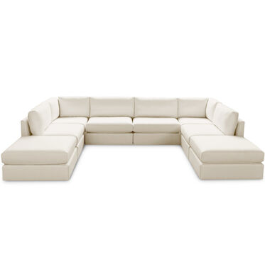 FRANCO II 8 PIECE SECTIONAL, TERRACE - ECRU, hi-res