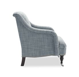 ODETTE CHAIR, Two Tone Heavy Weight Basket Weave - HARBOR                             , hi-res
