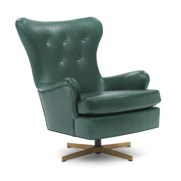 ORSON LEATHER SWIVEL CHAIR, MONT BLANC - MOUNTAIN SPRING, hi-res