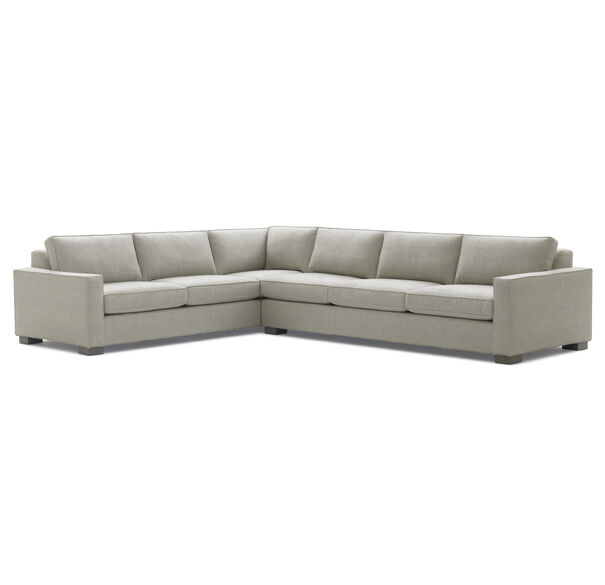CARSON RIGHT SECTIONAL, Sunbrella Performance Textured Two-Tone Linen -                                 GRAPHITE                             , hi-res