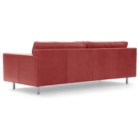 HUNTER LEATHER SOFA, Mont Blanc - Italian Leather - Crimson, hi-res
