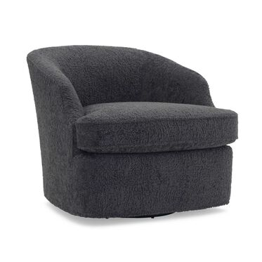 ARIES FULL SWIVEL CHAIR, SHERPA - CHARCOAL, hi-res