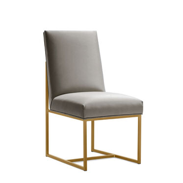 GAGE LOW DINING CHAIR - BRUSHED BRASS, KOKO - STEEL, hi-res
