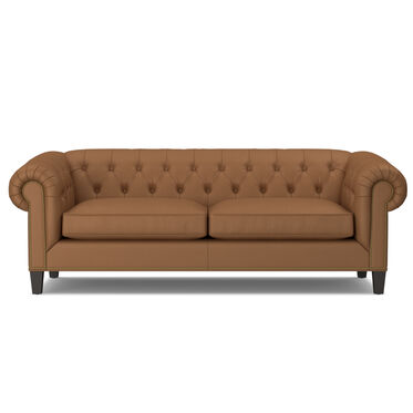 ADDISON LEATHER SOFA WITH NAILHEAD, , hi-res