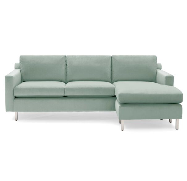 HUNTER STUDIO NO WELT 95 RIGHT CHAISE SECTIONAL, PIPPIN - SKY BLUE, hi-res