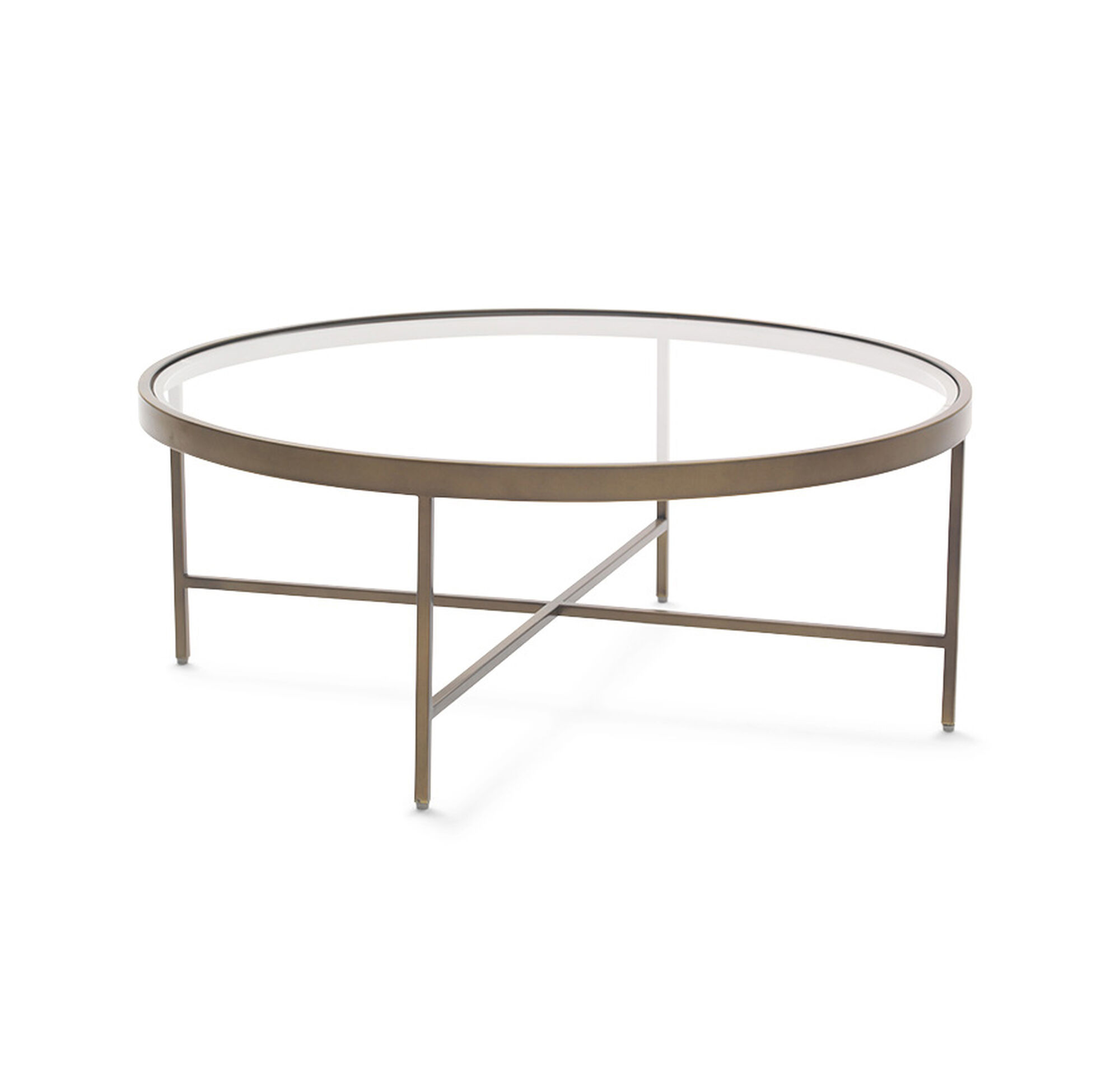 VIENNA ANTIQUE BRASS ROUND COCKTAIL TABLE