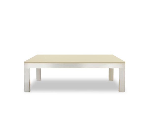 CLASSIC PARSONS COCKTAIL TABLE - POLISHED STAINLESS STEEL, , hi-res