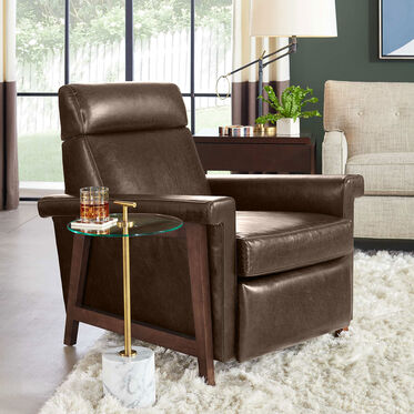 ARLEN ELECTRIC LEATHER RECLINER, MONT BLANC - WINTER PINE, hi-res