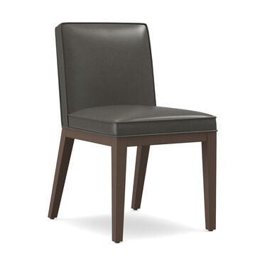 CAMERON LEATHER SIDE DINING CHAIR, MANCHESTER - GRAPHIT, hi-res