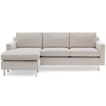 HUNTER STUDIO NO WELT 85 LEFT CHAISE SECTIONAL, PIPPIN - SILVER, hi-res