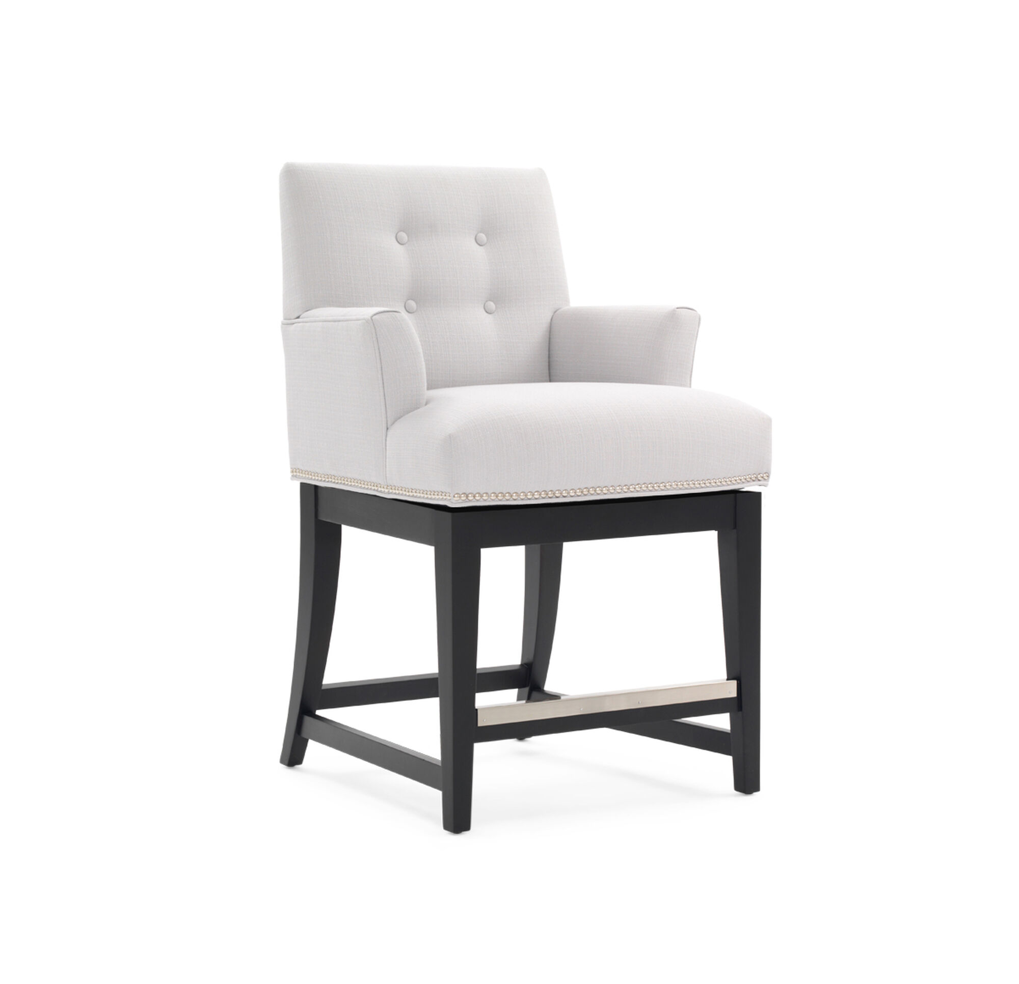 Oliver Return Swivel Counter Stool With Arms
