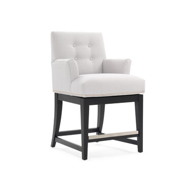 OLIVER RETURN SWIVEL COUNTER STOOL - WITH ARMS, , hi-res