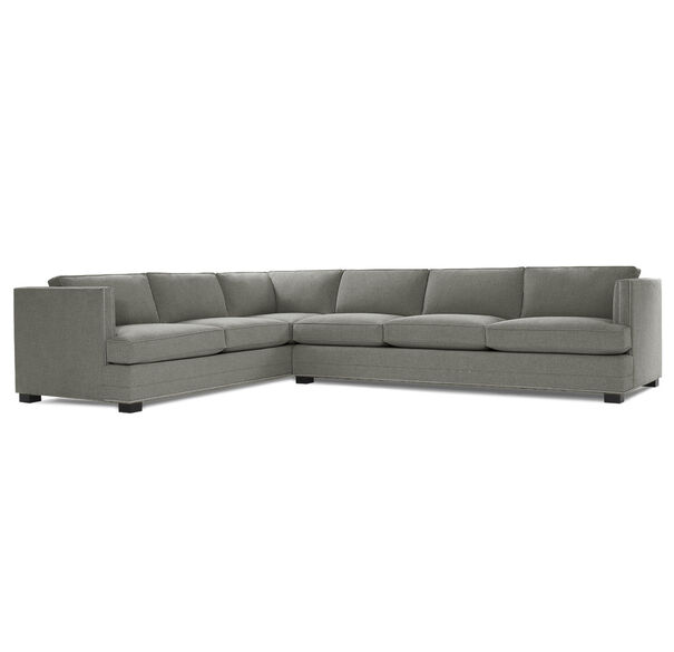KEATON SHELTER RIGHT ARM SECTIONAL CLASSIC DEPTH WITH NAILHEAD, FULMER - STEEL, hi-res