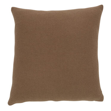 CAMEL HAIR BASKETWEAVE THROW PILLOW, , hi-res