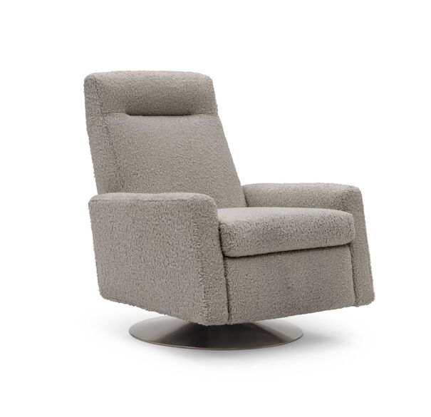 TILTON ELECTRIC RECLINER, SHERPA - PEWTER, hi-res