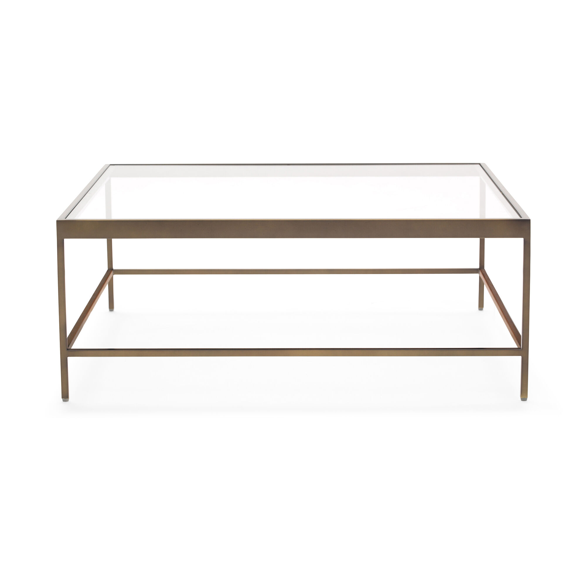 VIENNA SQUARE COCKTAIL TABLE ANTIQUE BRASS