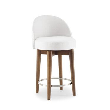 MARGAUX SWIVEL COUNTER STOOL, PERFORMANCE LINEN - WHITE, hi-res