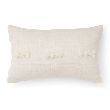 POM OPEN WEAVE ACCENT PILLOW, , hi-res