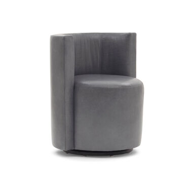 POPPY NO WELT LEATHER FULL SWIVEL CHAIR, MONT BLANC - IRON, hi-res