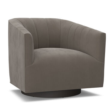 COOPER CHANNEL TUFTED SWIVEL CHAIR, VIVID - CAFE, hi-res