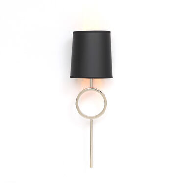 MARCO SCONCE - POLISHED NICKEL BLACK SHADE, , hi-res