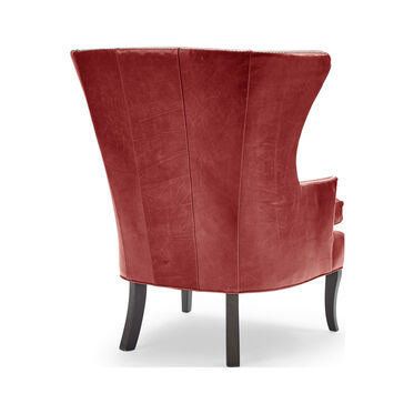 WILL LEATHER CHAIR, MONT BLANC - CRIMSON, hi-res