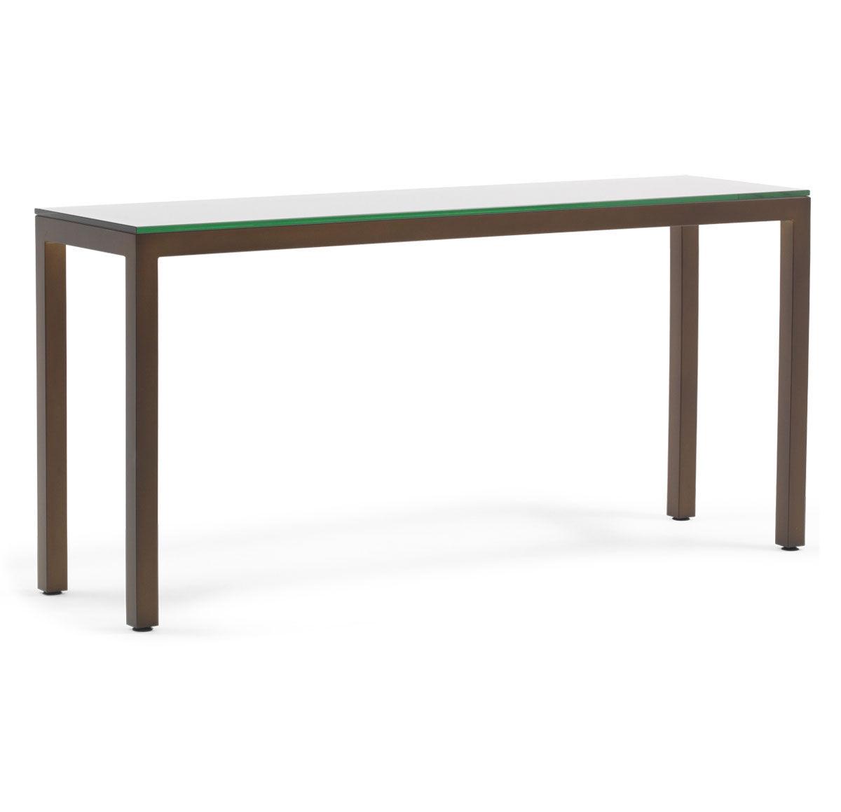 CLASSIC PARSONS CONSOLE TABLE   VINTAGE BRASS, , Hi Res