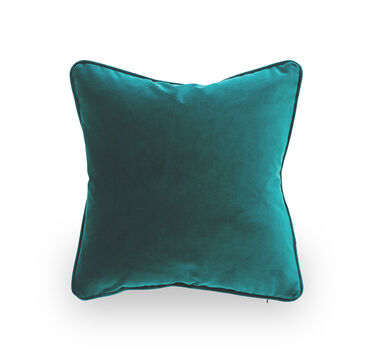17 IN. SQUARE THROW PILLOW, VIVID - PEACOCK, hi-res