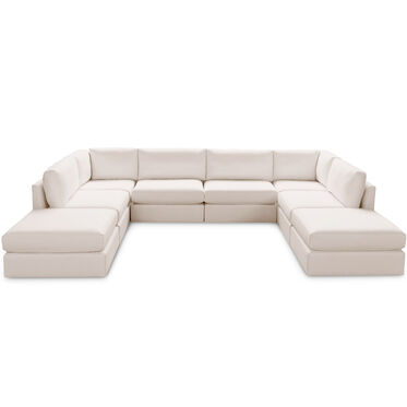 FRANCO II CLASSIC 8 PIECE SECTIONAL, TERRACE - ALMOND, hi-res