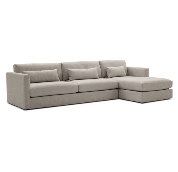 HAYWOOD RIGHT CHAISE SECTIONAL, SOL - PEWTER, hi-res