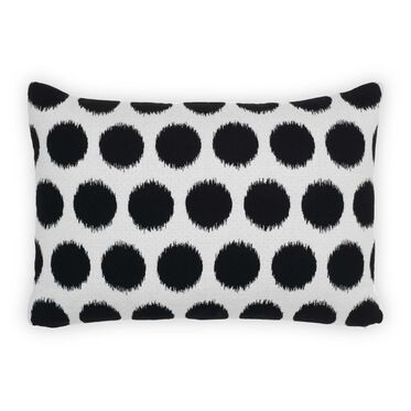 "SUNBRELLA 15"" X 22"" ACCENT PILLOW, AIKO - BLACK/WHITE, hi-res"