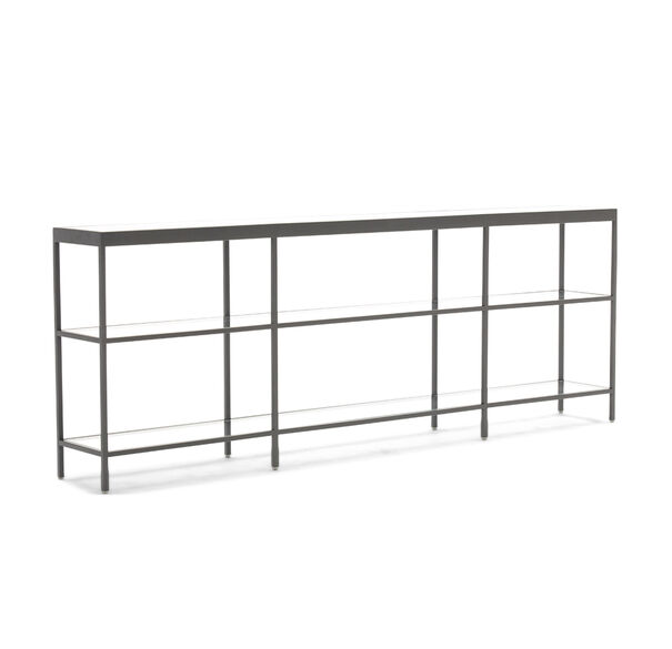 VIENNA LOW BOOKCASE LARGE - PEWTER, , hi-res