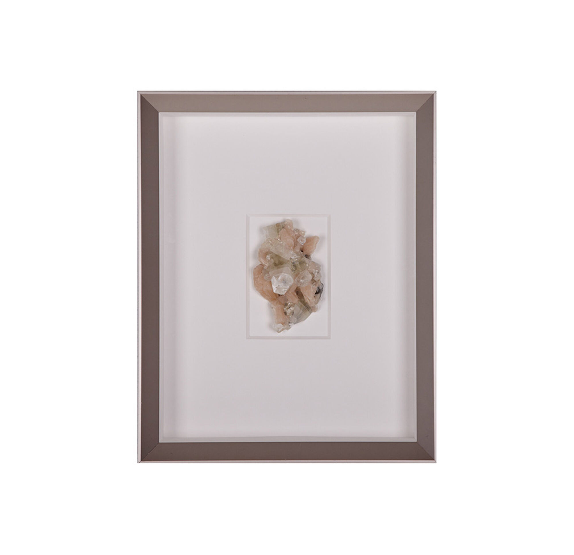 Natural mineral apricot wall art for Mineral wall