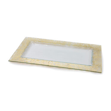 GOLD LEAF TEXTURED SERVING TRAY, , hi-res